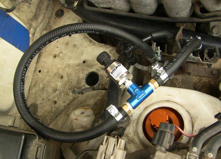 fuel pressure plumbing installed installing auto meter fuel pressure gauge with racepak usm iq3 on nb